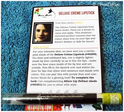 Anna Andre Lipstick - The Vellvette Box - December Edition