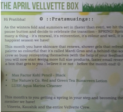 Vellvette Box - April