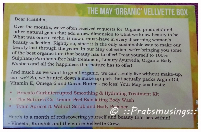 The Organic May Vellvette Box