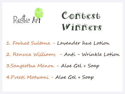 Rustic Art Contest Winners