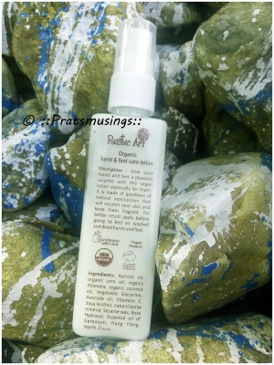 Rustic Art - Organic Hand and Foot Lotion